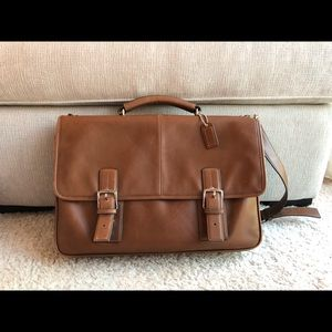COACH Thomson Executive Brown Leather Briefcase